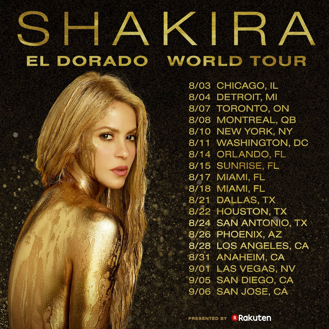 Shakira's concert has been rescheduled to Saturday August 4