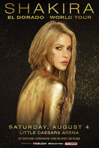 Shakira in Detroit August 4