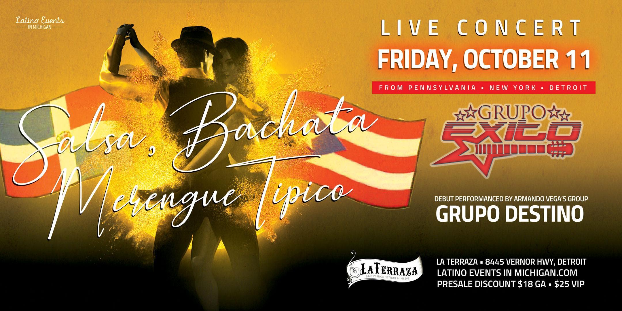 Salsa Bachata Y Merengue Tipico Latino Events In Michigan