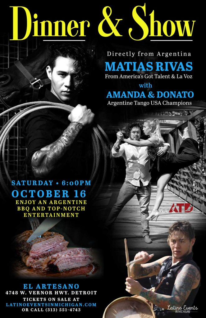 Dinner & Show with Matias Rivas and Amanda y Donato
